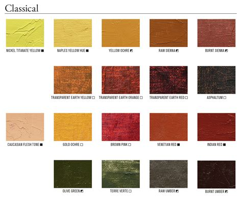 mineral and modern pigments painters access to color gamblin artists colors