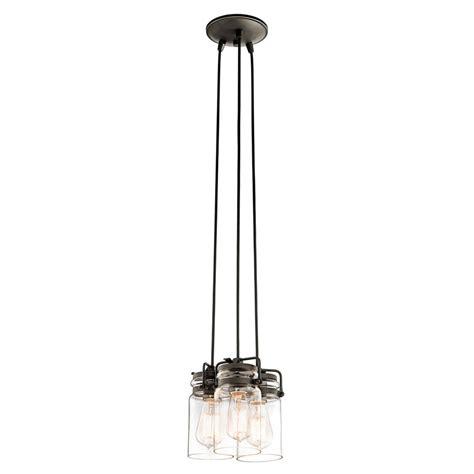 Multi Bulb Pendant Light Shop Kichler Lighting Brinley 8 5 In Olde Bronze Industrial Hardwired Multi Light Clear Glass