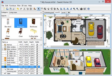 house design software free online 3d sweet home 3d draw floor plans and arrange furniture freely