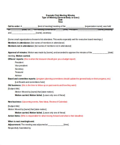 sle minutes of meeting template free meeting wizard meeting minutes format 11 corporate
