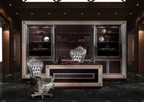 desk for manager office in classic style idfdesign