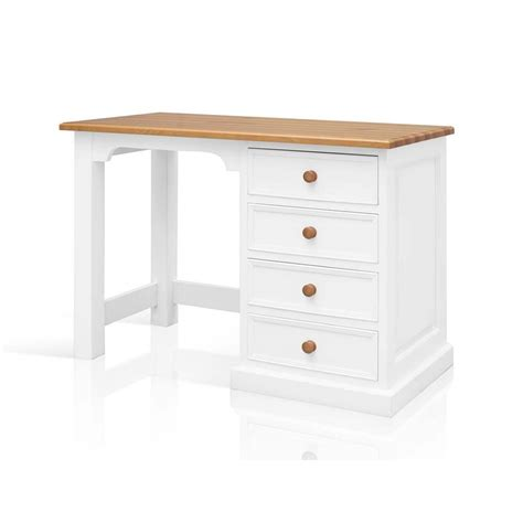 Harrogate White Painted Pine Furniture Small Pc Office White Painted Desk