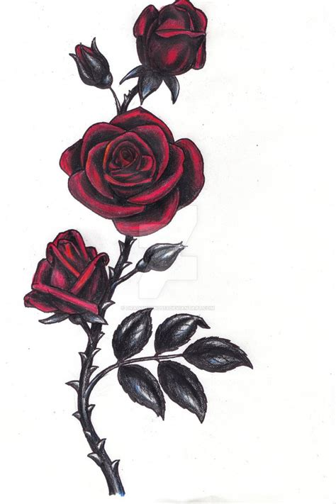 dark roses tattoo by dragonwings13 on deviantart