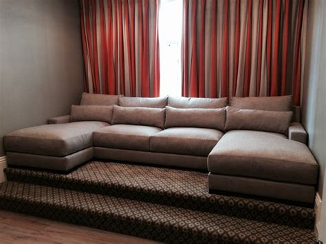 movie room sofa media room custom sectional sofa transitional home