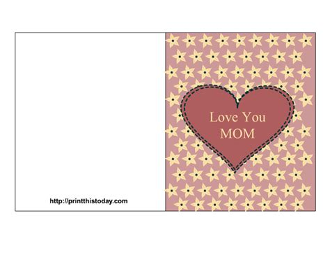 printable card for mom free mother s day cards printable