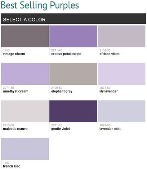 best colors with purple best selling purples benjamin my favorites are lilac lavender mist playroom
