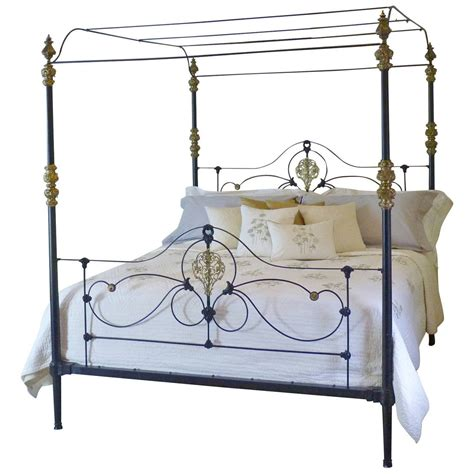 iron four poster bed rare cast iron and brass four poster bed at 1stdibs