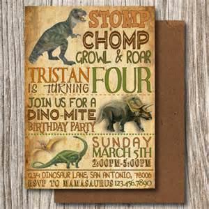 Dinosaur Invitations Template by 26 Dinosaur Birthday Invitation Templates Free Sle