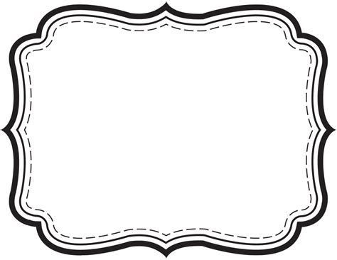 black and white label templates frame labels buscar con frame clip template and scrapbook