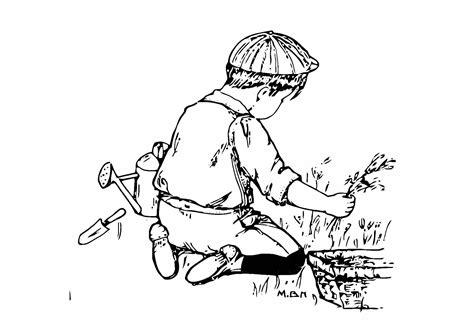 imagenes de jardines bonitos para colorear dibujo para colorear ni 241 o en el jard 237 n img 11435