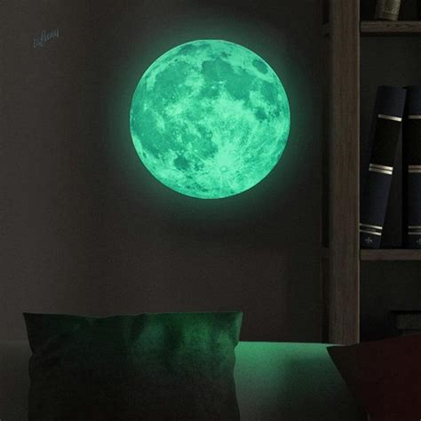 glowing wall stickers glow in the moon wall sticker home design inspirations
