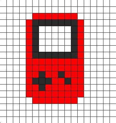 Gameboy Pattern boy perler bead pattern bead sprites misc