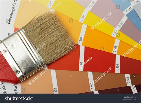 paint brush on color chart stock photo 1362776