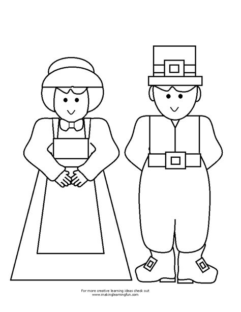 thanksgiving pilgrim coloring pages printable coloring pages