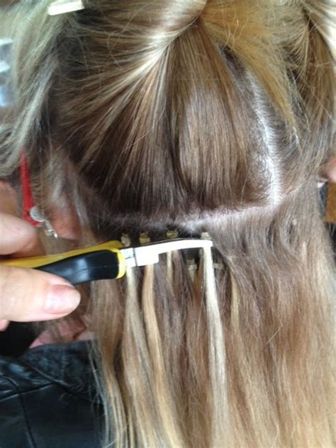 how to put in bead extensions micro bead hair extensions