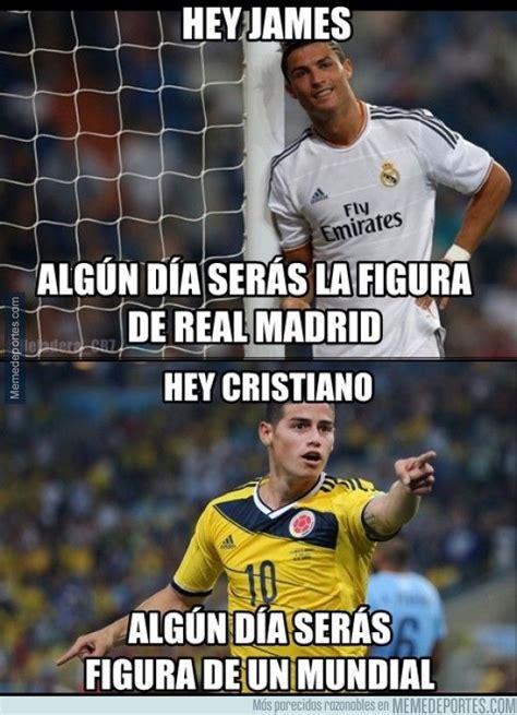 Real Madrid Memes - meme james y ronaldo real madrid cosas para ponerse