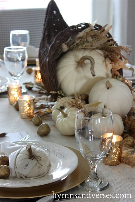 count your blessings cornucopia thanksgiving tablescape hymns and verses