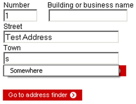flawed interface of royal mail s postcode finder utility