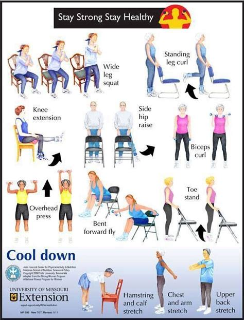 chair stretches for seniors chair exercises pt info