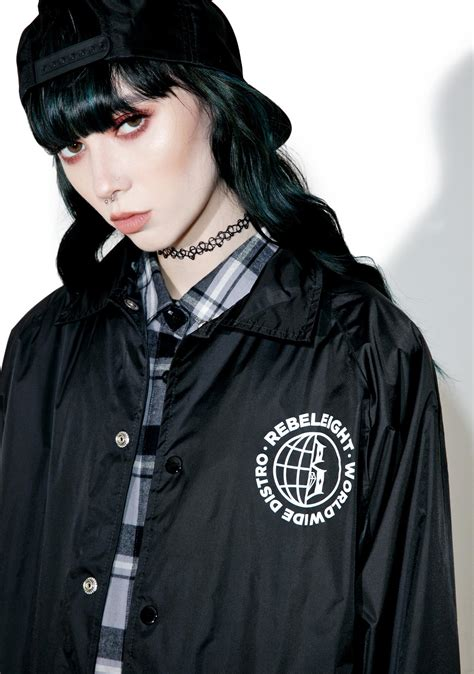 Jaket Distro Rebel rebel8 worldwide distro coaches jacket dolls kill