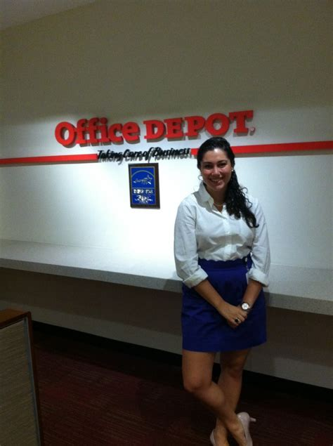 rising senior works on office depot caigns during