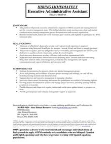 free sle resumes for administrative assistants administrative assistant description for administrative