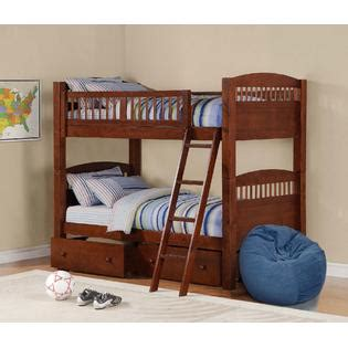 sears bunk bed walnut bunk bed stackable sleep solution saves space with