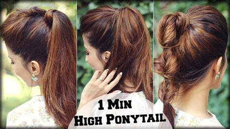 3 easy everyday ponytail hairstyles for medium to long 3 easy everyday high ponytail hairstyles with puff for