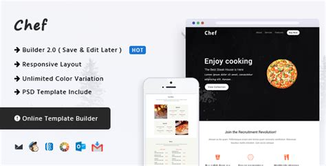Nulled Chef Responsive Email Template Online Builder Nulledtorrent Responsive Email Template 2017