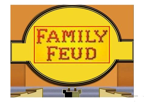 Family Feud Game Power Point Template Worksheet Free Esl Family Feud Template For Teachers