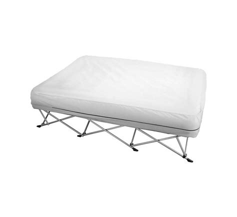 campmaster instant queen air bed frame camping