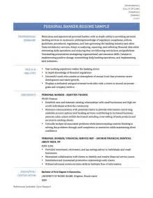 Resume For Personal Banker by Resume Sles For Personal Bankers Ebook Database