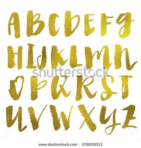 printable gold font modern calligraphy alphabet photos and calligraphy on