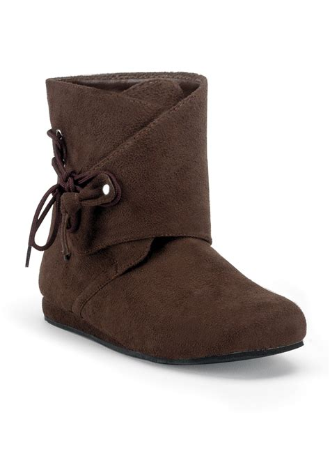 costume shoes brown suede moccasin boots mens costume shoes