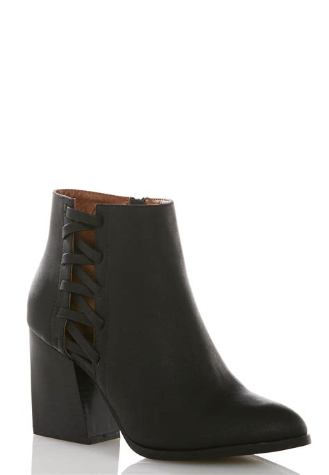 cato boots lattice side ankle boots ankle shooties cato fashions