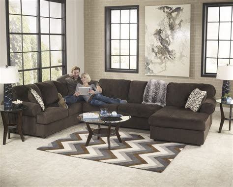 jessa place 3piece sectional rent to own furniture jessa place chocolate 3 sectional rental bestwayrto