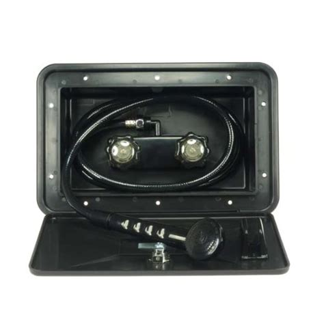 Rv Outside Shower Faucet Df Sa170 Bk Rv Exterior Shower Box Kit In Black Includes