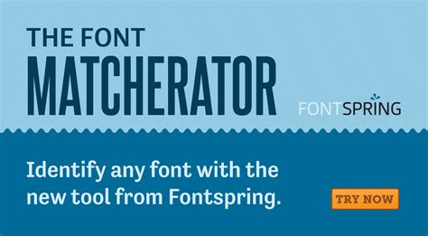 typography identifier fontspring matcherator find fonts from an image