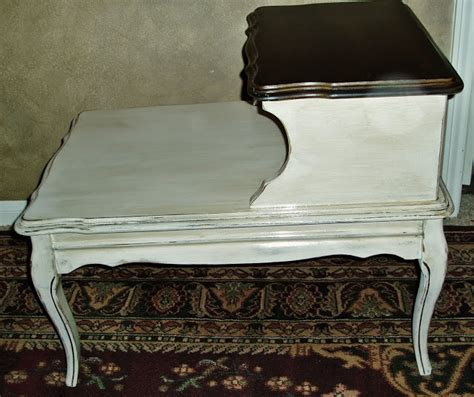 faux painting furniture vintage french country cream aged provincial side table