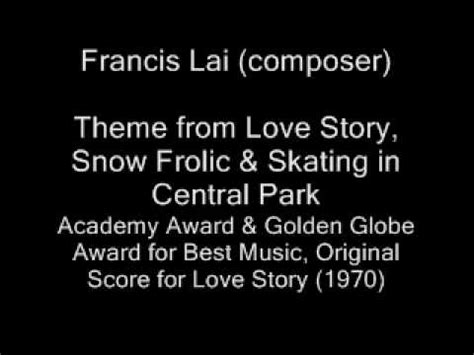 themes in love stories francis lai theme from love story snow frolic skating