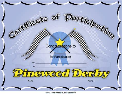 pinewood derby certificate templates robert pinewood derby certificates