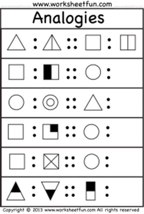 creating analogies worksheet 10 best images of cognitive worksheets printable