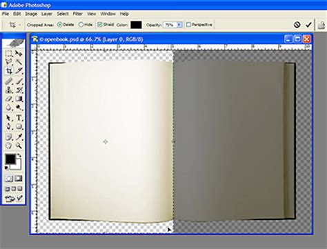 photoshop animation templates an open book