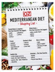 dr oz s mediterranean diet shopping list the dr oz show