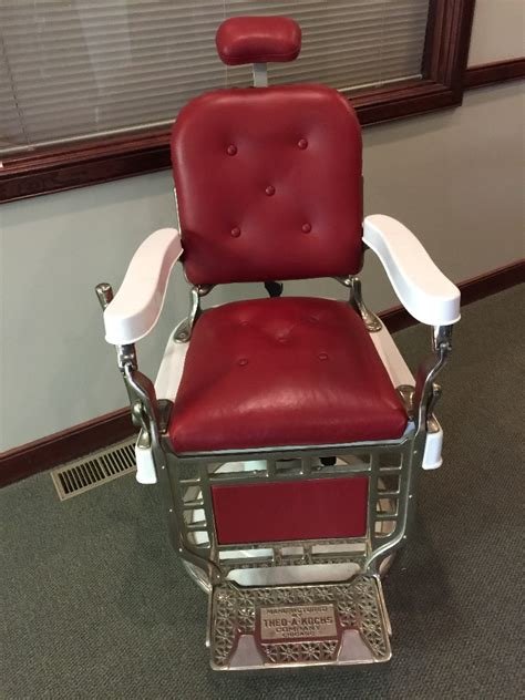 Theo A Koch Barber Chair by 1920s Theo A Kochs Barber Chair Restored