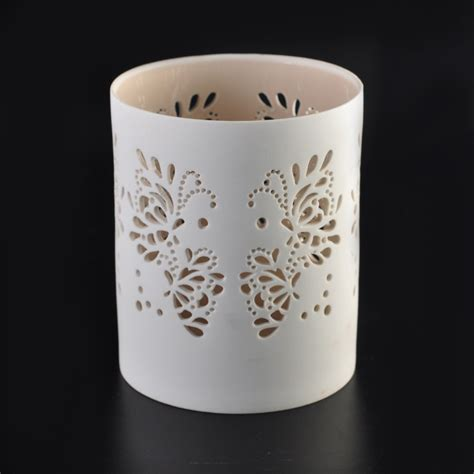 elegant carving tealight holders ceramic candle holder