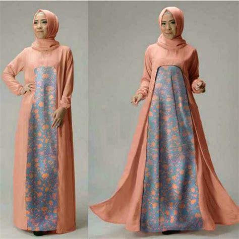 Setelan Lo Wanita Spandek Abu model baju setelan gamis muslim wanita terbaru dan modern