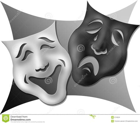 black and white drama drama masks black and white stock images image 574524