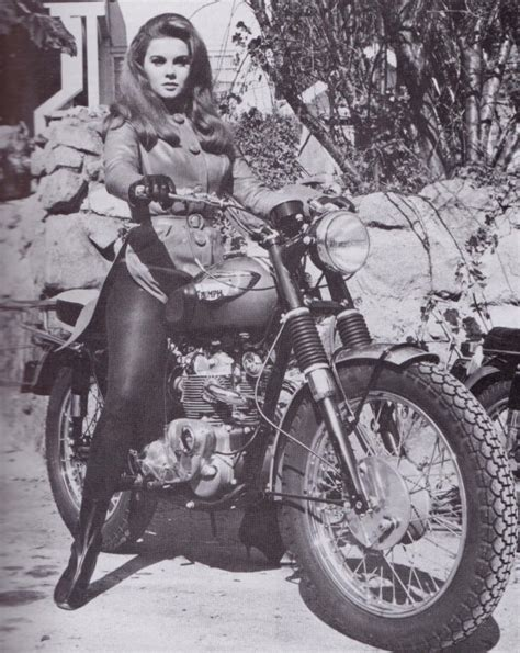 swinging bikers ann margret actress motorcyclist moto lady