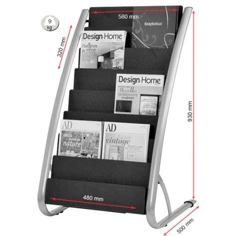 Slopi Maxi Black retail literature display rack